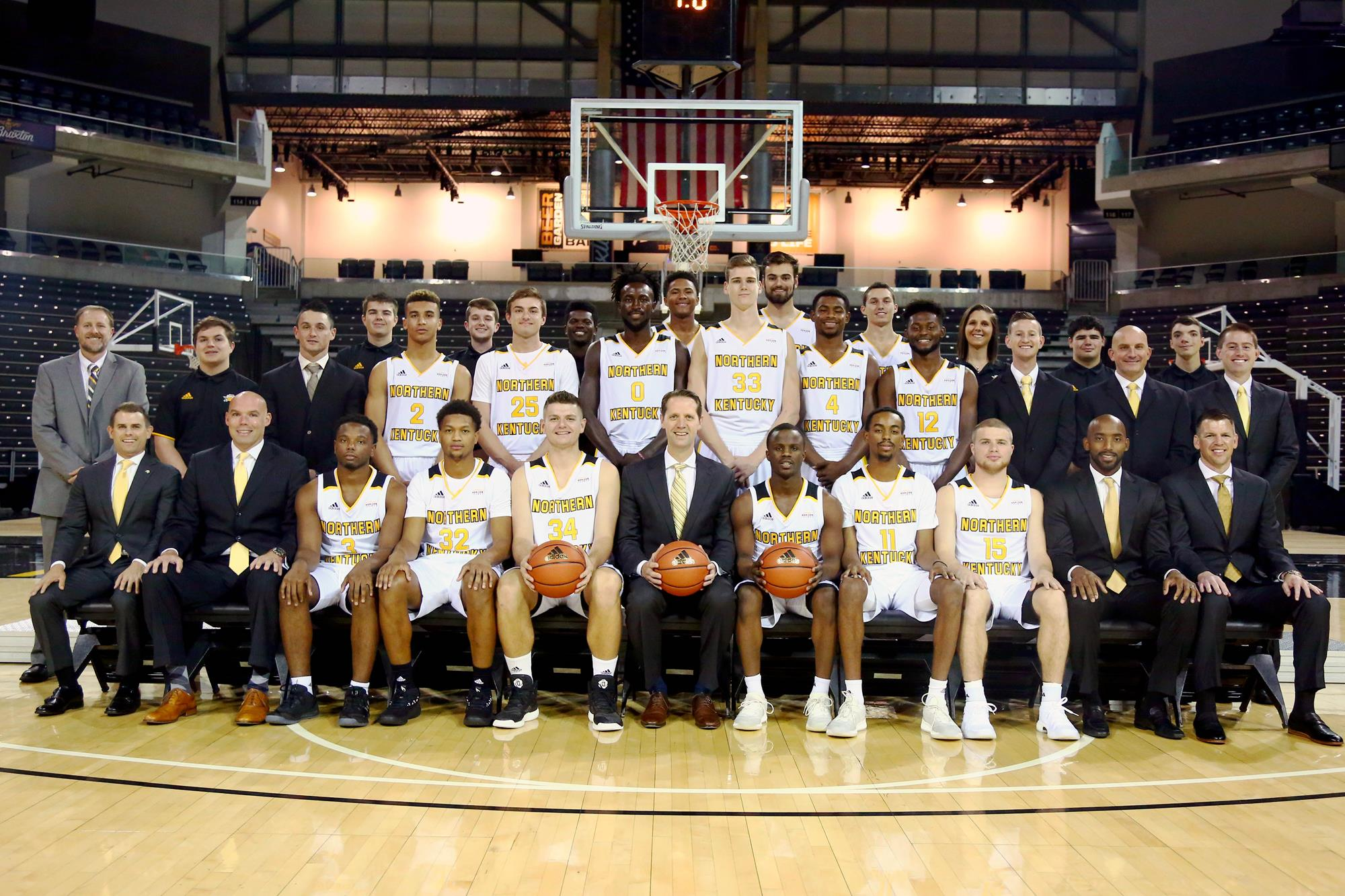 photograph about Kentucky Basketball Schedule Printable called 2018-19 Mens Basketball Roster - Northern Kentucky